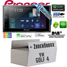 Pioneer Radio für VW Golf 4 2DIN Bluetooth DAB+ USB Apple CarPlay Auto Einbauset