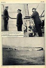 """S.M.""""Hohenzollern"""" Kommandobrücke Graf Platen Kaiser Historical Memorabilia 1911"""