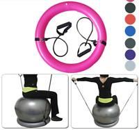 65cm Yoga Pilates Gym Balance Ball Exercise Workout Base Resistance Bands Ring