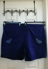 Basic Editions, blue, shorts women's plus size 2X pull tie waist, NWT $18