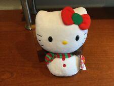 Hello Kitty Beanie Baby Snowman Edition