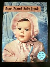 Bear Brand Baby Book 399 1950 Vintage Crochet Knitting Pattern Book Children