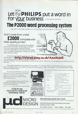 Philips P2000 Vintage Word Processing System 1984 Magazine Advert #5229