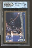 1992-93 Shaquille O'Neal Fleer #401 Gem Mint 10 RC Rookie Lakers Magic