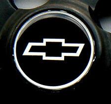 """SUPER SHARP CHEVY CHROME & BLACK & CHROME 2"""" DOMED CENTER CAP STICKER DECALS"""