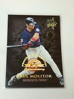 F43839 1998 Leaf Fractal Foundations #175 Paul Molitor GLS /3999 Twins