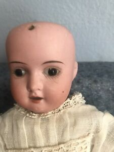 Antique Bisque Head Goebel Tiny Little Doll Papier Body Old Clothes Teeth German
