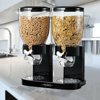 PASTA CEREAL DISPENSER DRY FOOD STORAGE CLEAR CONTAINER DISPENSE MACHINE GIFT UK