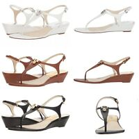 New Michael Kors Hamilton Wedge Thong Sandals/Various Colors/ Size 5.5-9