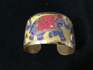 BEAUTIFUL HAND CRAFTED EVOCATEUR BRACELET, MADE IN USA, 24k GOLD LEAF, 1.5 WIDE
