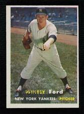 1957 Topps Whitey Ford #25 HOF