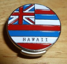 """Hawaii Flag golf ball marker 1"""" with Hat Clip"""