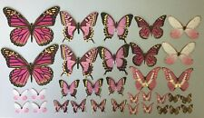 Paper Butterfly Die-cuts Pink 33 pieces