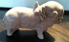 Vintage Erphila pink porcelain Pekingese figurine
