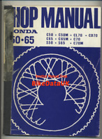 Honda 50 65 70 C50 S65 C70 CL70 CD70 (65-75) Genuine Factory Repair Manual BT62