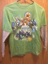Skylanders T-shirt Long Sleeve Green Gray L