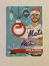 New Listing2020 Topps Holiday Pete Alonso 2 Color Hat Relic Auto 03/10 1:4194 -Blaster Pull