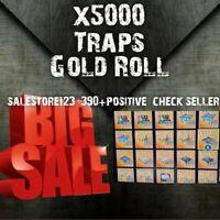 X5000 PL130 TRAPS full gold rolls Fort.nite sa.ve the world