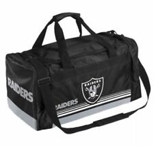 Oakland Raiders Duffle Bag Gym Swimming Carry On Travel Luggage NEW Striped