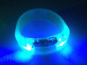 BANGLE BRACELET FLASH GLOW BAND LIGHT-UP EL LED MOTION SOUND ACTIVATED WRISTBAND
