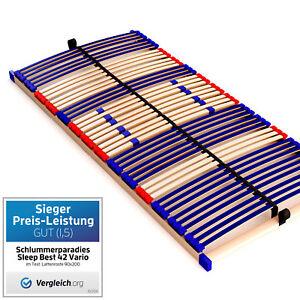 Qualitäts- Lattenrost 7 Zonen Maße 90x200cm 140x200cm 90x190cm 80x200cm günstig