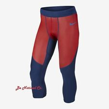 Nike Pro HyperCool Men's 3/4 Training Tights XL Blue Red Basketball Gym New