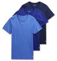 NWT POLO Ralph Lauren Men's Sz XL Blue Classic Fit 3 Pack Cotton Crew T-shirts