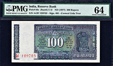 India 100 Rupees ND (1977) Sign. M.Narasimham Pick-64c Ch UNC PMG 64