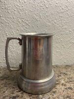 Vintage 1970s PLAYBOY Club Aluminum Beer Stein Mug Cup Glass Bottom Bunny Logo