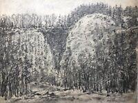 FRITZ KÖHLER (1887-1971) LANDSCHAFT AM STEINBRUCH DÜSSELDORF WEIMAR  55 x 70