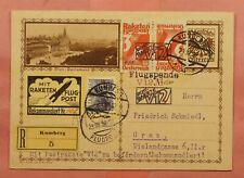 1932 AUSTRIA ROCKET MAIL CARD RARE TETE BECHE PAIR EZ# 15C1b *EX AL BARNES