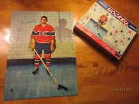 1950's Maurice Rocket Richard Hockey Puzzle 500 Pieces Ideal Montreal Canadiens