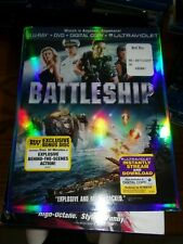 BATTLESHIP  -  BLU-RAY & DVD PLUS BONUS DISC ONLY -  WATCHED ONCE!!