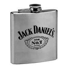 Jack Daniels Stainless Steel Spirit Hip Flask Christmas Birthday Fathers Gift