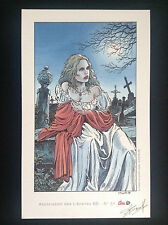 Ex Libris sérigraphié  Swolfs Prince de la nuit Signé ETAT NEUF