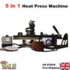 "5 in1 Heat Press Machine Combo 15x12"" Digital Multi Transfer Sublimation T-shirt"