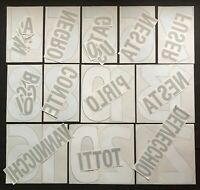 NOMI+NUMERI UFFICIALI ITALIA AWAY 1998-2000 OFFICIAL NAMESET 1ST TEAM-U21