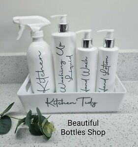 Mrs Hinch Kitchen Tidy Caddy with Washing Up Hand Wash Lotion & Spray Bottles