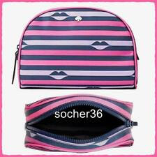 KATE SPADE JAE NYLON LIP PRINT MEDIUM DOME COSMETIC POUCH CASE WLRU5932 NWT $79