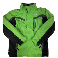 The North Face Boy's Green And Gray Hyvent Full Zip Ski Shell Jacket Size XL