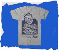 Pabst Blue Ribbon beer shirt Vintage look and feel  hipster Vintage Pabstman