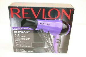 Revlon Limited Edition Beauty Blowout Kit 1875w Ionic Ceramic Hair Dryer 16 Pcs