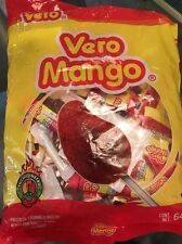 10 Pieces Vero Mango Chili Covered Mango Flavored Lollipops Mexican Candy