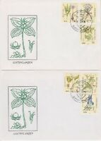 DDR FDC 2691 - 2696 auf 2 FDCs mit SST Berlin Giftpflanzen 1982, first day cover
