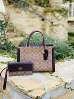 NWT Coach Large Zoe Signature snake Print Satchel / Wallet