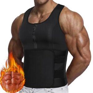 Men's Weight Loss Sauna Sweat Vest Neoprene Waist Trainer Tank Top Body Shaper