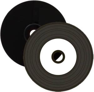 2 X Xlayer Rohlinge Inkjet Bedruckbar Vinyl Oberfläche Cd-R Disc PC Schwarz Dye