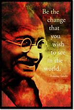Mahatma Gandhi Arte Foto impresión Poster Regalo de desobediencia civil Motivacional citar