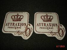 2 Authentic Rossignol Attraxion Promotional Stickers #3 Décalques Autocollants