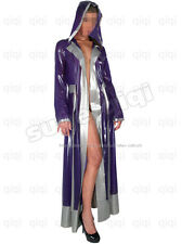 Latex/Rubber 0.45mm Nun Robe catsuit cross hoody coat